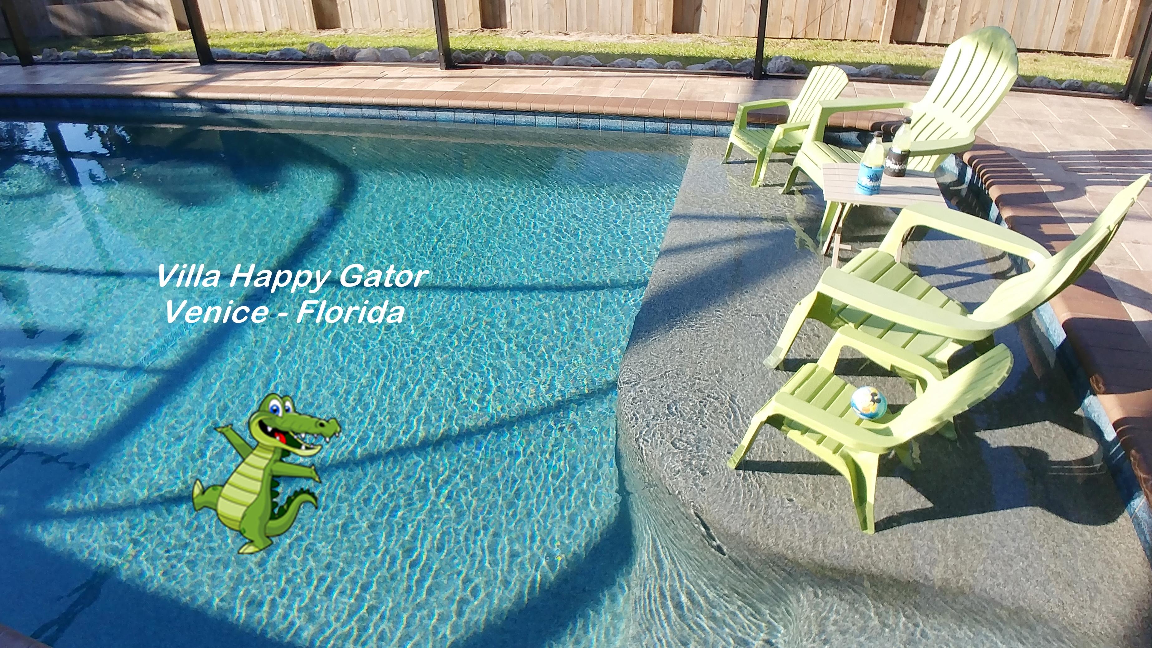 Sunshelf Pool Villa Happy Gator