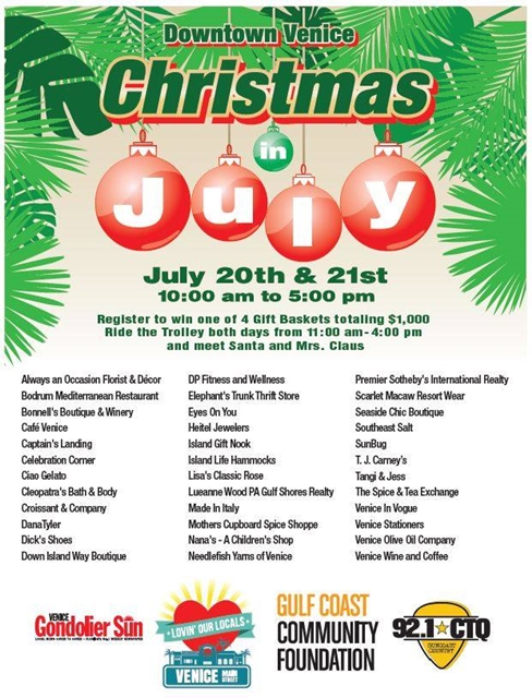 2018 Christmas in July Venice Florida