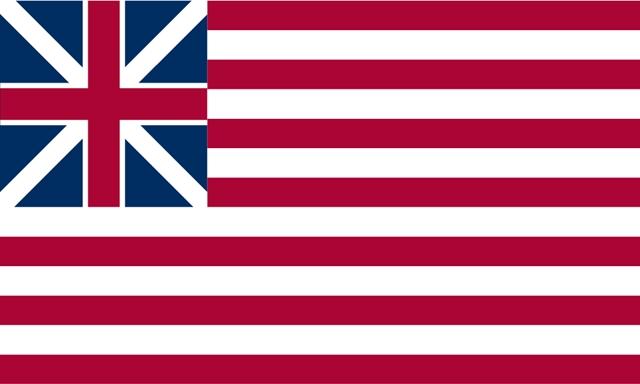 flagge union jack und streifen blau weiß rot